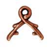 TIERRACAST® Antique Copper 6mm Vine Briolette Bail