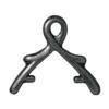 TIERRACAST® Black 8mm Vine Briolette Bail