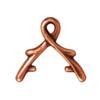 TIERRACAST® Antique Copper 8mm Vine Briolette Bail