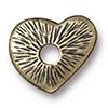 TierraCast® Brass Oxide Rivetable Heart