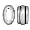 TIERRACAST® 6 x 2 mm Antique Silver Pewter Deco Barrel Slider Bead