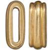 TIERRACAST® 12x2mm Gold Plated Pewter Deco Barrel Slider Bead