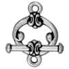 TIERRACAST® Antique Silver Clasp Set Classic