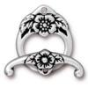 TIERRACAST® Antique Silver Clasp Set Floral