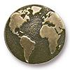 TIERRACAST® Brass Oxide Earth Button