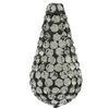 Teardrop Pave Bead with 1.2 mm hole Black Diamond 11 x 22 mm