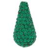 Teardrop Pave Bead with 1.2 mm hole Emerald 11 x 22 mm