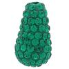 Teardrop Pave Bead with 1.2 mm hole Emerald 8 x 15 mm