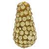 Teardrop Pave Bead with 1.2 mm hole Light Colorado Topaz 8 x 15 mm