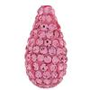 Teardrop Pave Bead with 1.2 mm hole Light Rose 8 x 15 mm