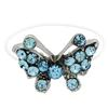 Butterfly Illusion Stretch Toe Ring made with Crystals from Swarovski Aquamarine