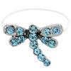 DragonFly  Illusion Stretch Toe Ring made with Crystals from Swarovski Aquamarine