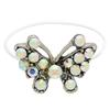 Butterfly Illusion Stretch Toe Ring made with Crystals from Swarovski Crystal AB
