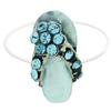 Flip Flop Illusion Stretch Toe Ring made with Crystals from Swarovski Aquamarine