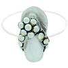 Flip Flop Illusion Stretch Toe Ring made with Crystals from Swarovski Crystal AB