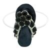 Flip Flop Illusion Stretch Toe Ring made with Crystals from Swarovski Jet