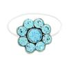 Flower Illusion Stretch Toe Ring made with Crystals from Swarovski Aquamarine