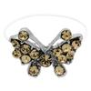Butterfly Illusion Stretch Toe Ring made with Crystals from Swarovski Light Colorado Topaz