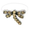 DragonFly  Illusion Stretch Toe Ring made with Crystals from Swarovski Light Colorado Topaz