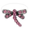 DragonFly  Illusion Stretch Toe Ring made with Crystals from Swarovski Rose