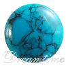 Turquoise Flatback Cabochons Low Dome
