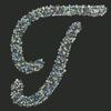 Swarovski Sticker Monogram Letter T, 2 Inch Height