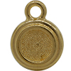 TierraCast® POST, SS34 STEPPED BEZEL, Gold plated