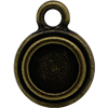 TierraCast® POST, SS34 STEPPED BEZEL, Brass Oxide