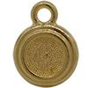 TierraCast® Drop, SS34 STEPPED BEZEL, Gold plated
