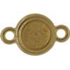 TierraCast® Link, SS34 STEPPED BEZEL, Gold plated