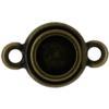 TierraCast® Link, SS34 STEPPED BEZEL, Brass Oxide
