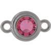 TierraCast® Link, SS34 STEPPED BEZEL, Rhodium plated, Rose