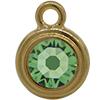 TierraCast® POST, SS34 STEPPED BEZEL, Gold plated, Peridot