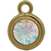 TierraCast® POST, SS34 STEPPED BEZEL, Gold plated, Crystal AB