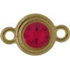 TierraCast® Link, SS34 STEPPED BEZEL, Gold plated, Siam
