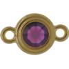 TierraCast® Link, SS34 STEPPED BEZEL, Gold plated, Amethyst