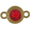 TierraCast® Link, SS34 STEPPED BEZEL, Gold plated, Light Siam