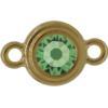 TierraCast® Link, SS34 STEPPED BEZEL, Gold plated, Peridot