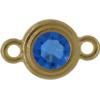 TierraCast® Link, SS34 STEPPED BEZEL, Gold plated, Sapphire
