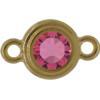 TierraCast® Link, SS34 STEPPED BEZEL, Gold plated, Rose