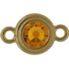 TierraCast® Link, SS34 STEPPED BEZEL, Gold plated, Topaz