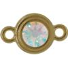 TierraCast® Link, SS34 STEPPED BEZEL, Gold plated, Crystal AB