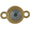 TierraCast® Link, SS34 STEPPED BEZEL, Gold plated, Jet Hematite