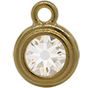 TierraCast® POST, SS34 STEPPED BEZEL, Gold plated, Crystal