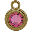 TierraCast® POST, SS34 STEPPED BEZEL, Gold plated, Rose