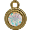 TierraCast® Drop, SS34 STEPPED BEZEL, Gold plated, Crystal AB