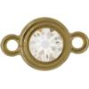 TierraCast® Link, SS34 STEPPED BEZEL, Gold plated, Crystal