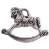 TierraCast® Antique Silver Rocking Horse Charm, Drop