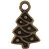 TierraCast® Brass Oxide Christmas Tree Charm, Drop