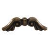 TIERRACAST® Brass Oxide Angel Wings Bead